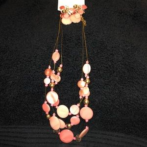 Ashley Cooper 3 Row Necklace & Earring Set